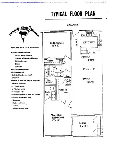 typical floor plan typical floor plan at country club manor naples florida