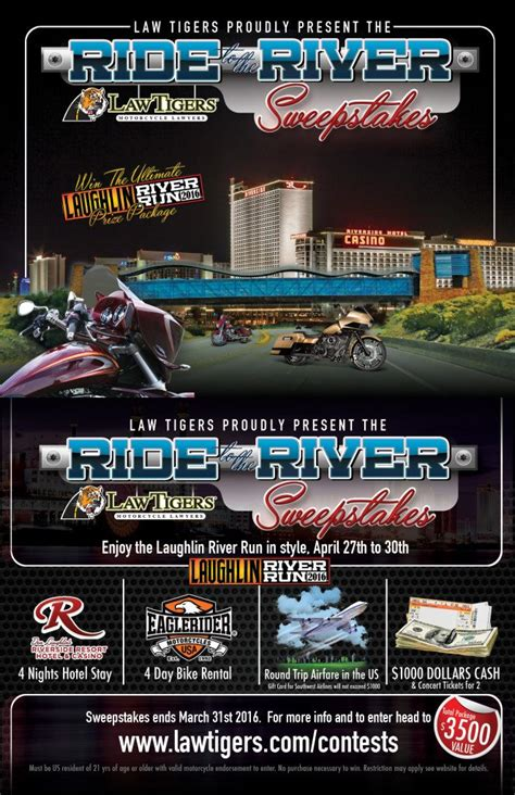 Nevada Sweepstakes Law - law tigers present the ride to the river sweepstakes lawtigers