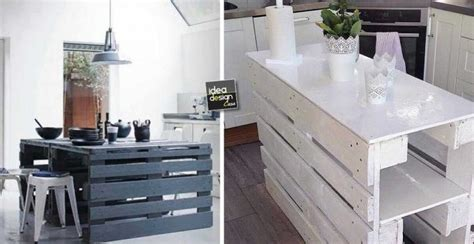Shabby Chic Kitchen Island by Isola Cucina Con I Pallet 15 Idee A Cui Ispirarsi