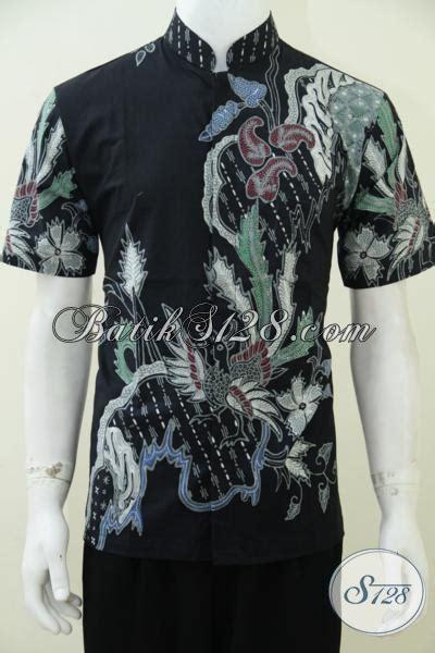 Koko Qurta Trend Masa Kini baju batik koko model pakain pria trend mode masa kini batik tulis kerah shanghai dasar hitam