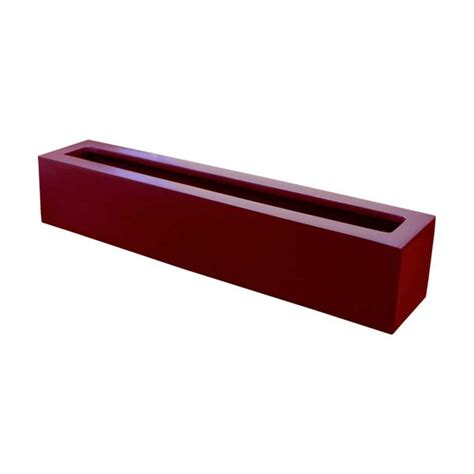 narrow outdoor planter box fiberglass 42 quot l x 8 quot w x 8 quot h