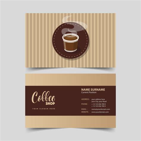 coffee shop business cards design coffee shop business card vector 07 vector business