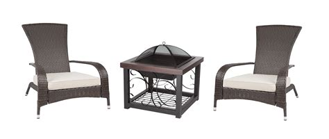 cocktail table pit cocktail table pit and set of 2 coconino wicker