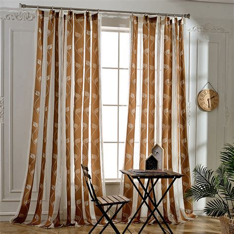 floor to ceiling sheer curtains floor to ceiling long leaf striped sheer curtains