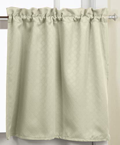blackout tier curtains lorraine home fashions facets room darkening blackout tier