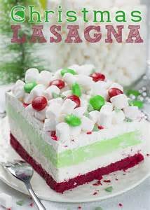 Christmas Desserts christmas lasagna is whimsical layered dessert that will be a hit at