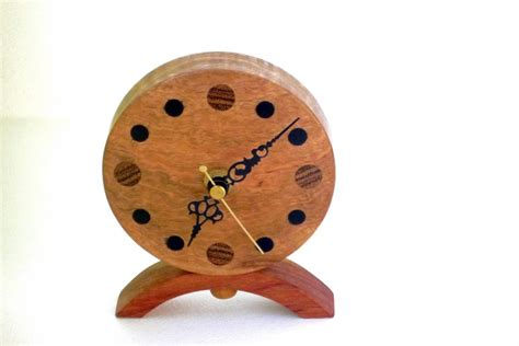 Wood Clocks Handmade - wooden clock corrugata burr wood woodpecker woodworks