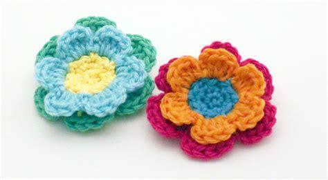 crochet flower pattern easy free crochet pattern mamacheemamachee
