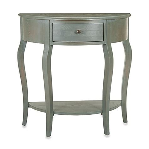 bed bath and beyond sofa table buy safavieh jan demilune small console table from bed