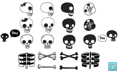 jetpacks and rollerskates skull vector pack for go media