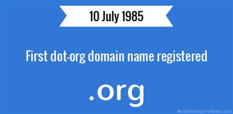 dot org domain  registered