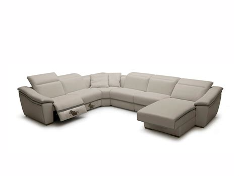 Leather Recliner Sectional Sofas Light Grey Leather Sectional Sofa Vg728 Leather Sectionals