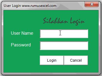 Cara Membuat Userform Login | cara membuat form login di microsoft excel