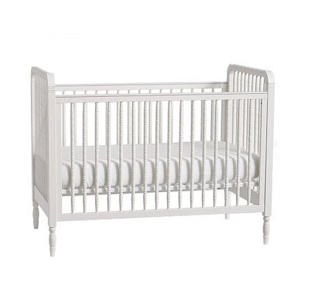 White Spindle Crib by Elsie Spindle Convertible Crib Pottery Barn