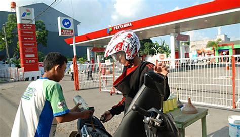 disperindag melarang warga jual bensin eceran denda