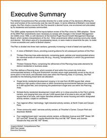 Resume Executive Summary Exle by 8 Executive Summary Sle A Cover Letters