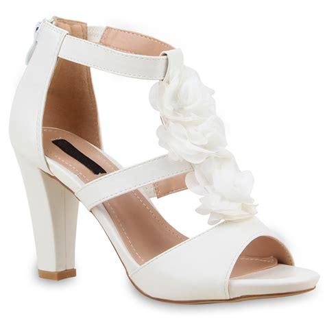 Sandalen Zur Hochzeit by Damen Sandaletten Blumen High Heels Brautschuhe Hochzeit