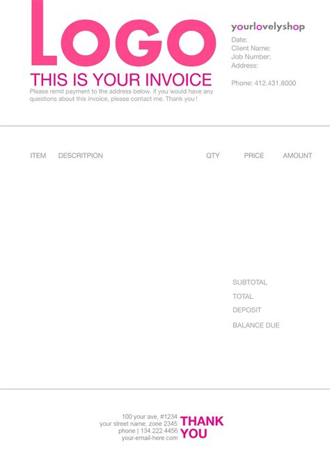 invoice template graphic design graphic design invoice template