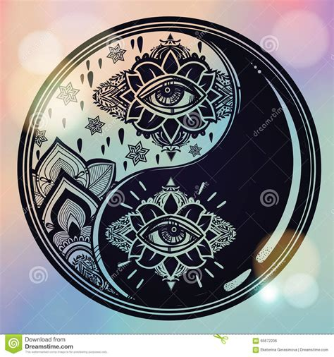 harmony tattoo yin yang for design symbol illustration vector