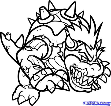 coloring page bowser bowser jr coloring pages