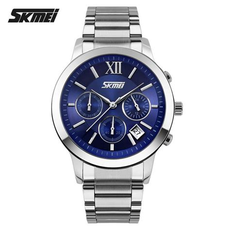 Stock Baru Jam Tangan Pria Casual Original Skmei 9135 Anti Air 30m Bl jual jam tangan pria skmei analog casual stainless original 9097cs biru