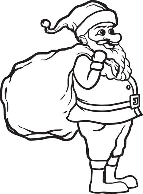 santa claus coloring pages games free printable santa claus coloring page for kids 1