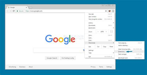 chrome manage extensions how to remove a google chrome extension metrotechs