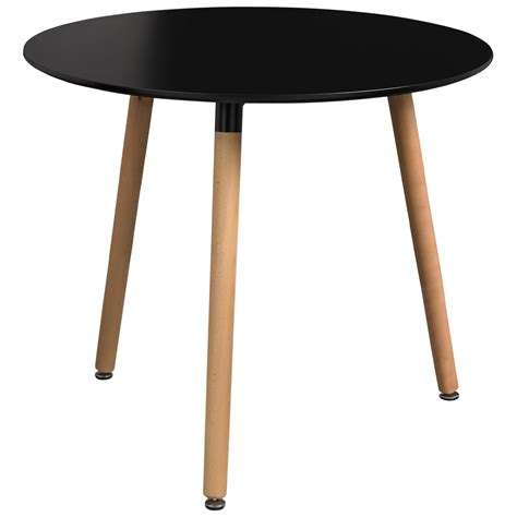 Black Circle Dining Table Painted Finish Dining Table Black White Ebay