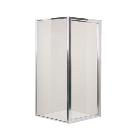 Swan Shower Doors Swan 36 In X 70 In Threshold Framed Pivot Shower Door In Chrome Sd03636og 081 The