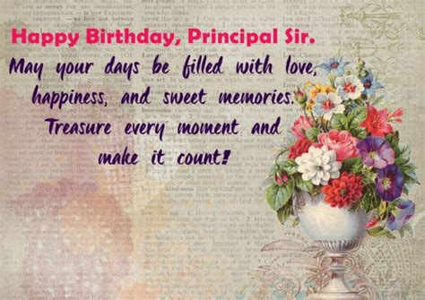 Happy Birthday Wishes To My Sir Happy Birthday Principal Sir May Your Day Be Filled With
