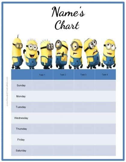 behavior charts   minions add   photo