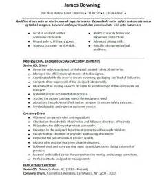 resume for self employed sle cdl driver resume nj sales driver lewesmr