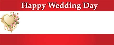 Flag Happy Wedding wedding day hearts flowers personalised banner partyrama