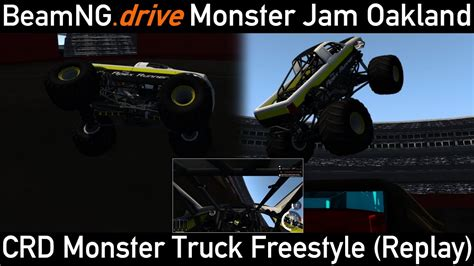 monster truck jam oakland beamng drive freestyle at monster jam oakland crd