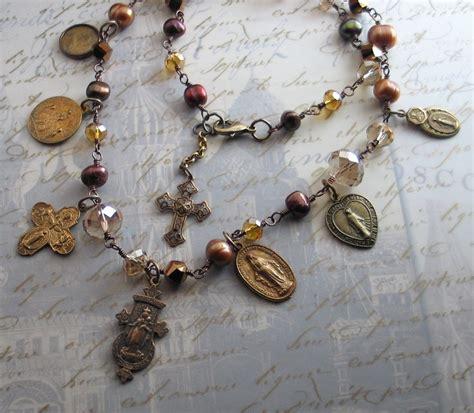 religious jewelry vintage catholic medals freshwater