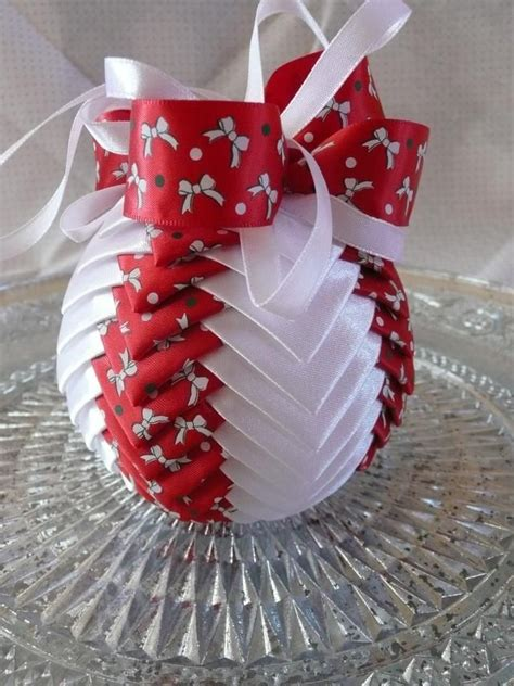 ribbon ornaments 17 best images about quilted ornaments on