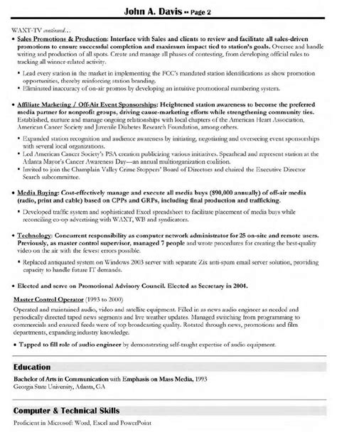director resume sles resume sles creative 28 images advertising sales