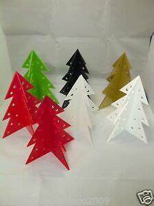 table top christmas tree in pleiglass with falling snow tree table decoration celebration centre in laser cut acrylic ebay