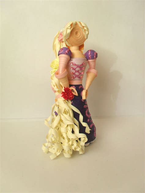 paper quilling doll tutorial 3d paper quilled rapunzel doll inspired by by