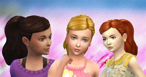 sims 4 cc for kids hair mystufforigin ponytail curled sims 4 hairs sims 4