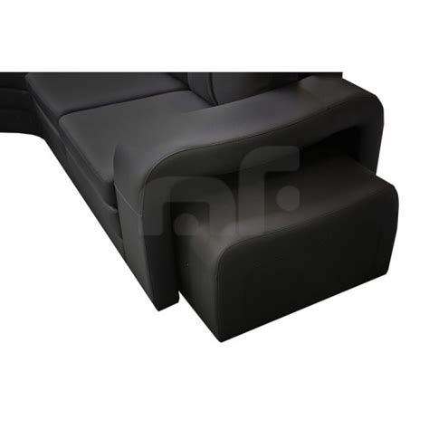 6 Seater Corner Sofa by Majestic Black 6 Seater Corner Sofa Melbournians Furniture