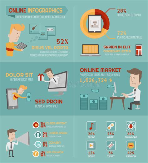 eps format online online shopping infographics elements stock photos image