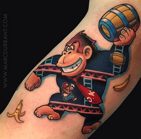 donkey kong tattoo kong best design ideas