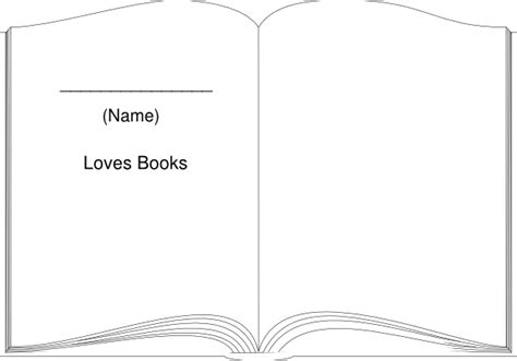 book shape template book outline large clip at clker vector