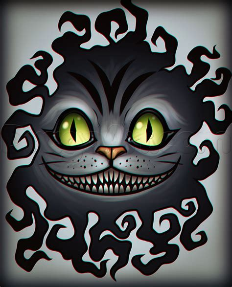 how to draw the cheshire cat tattoo step by step tattoos