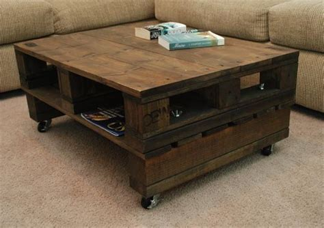 vintage pallet coffee table with casters pallet