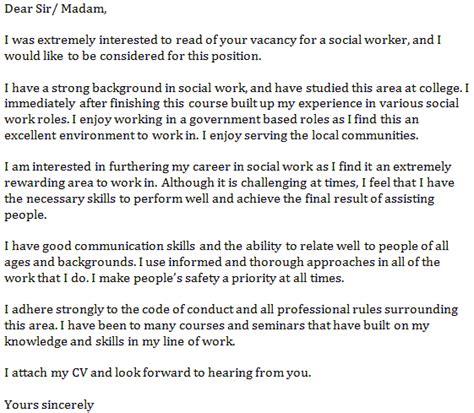 Social Work Cover Letter For Resume