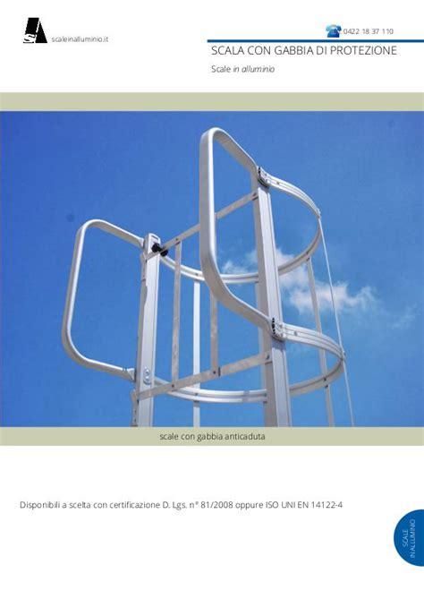 scale a gabbia scale con gabbia di protezione scale in alluminio con