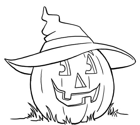 coloring page witch hat pumpkin using witch hat coloring pages halloween