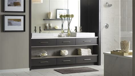Modern Walnut Bathroom Vanity Modern Walnut Bathroom Vanity Omega Cabinetry